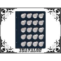 Лист Синий, для монет в капсулах D= 33мм, Коллекционер КоллекционерЪ в альбом для капсул