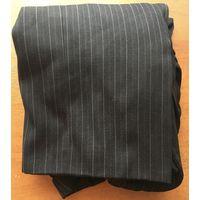 Детский новый чёрно-серый блестящий светящийся с фиолетово-синим отливом с большими передним на груди и задним карманами с красивым узором-полоской прямой широкий пиджак для мальчика от 16 до 18 лет