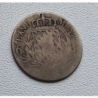 Бавария 6 крейцеров, 1806-25 7-7-31