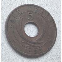 Британская Восточная Африка 5 центов, 1952 6-6-12