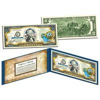 2 доллара штат IDAHO  -  43-ий штат США (цветные в футляре с цветным сертификатом)