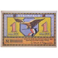 РАСПРОДАЖА!!! - ГЕРМАНИЯ ШТАЙНФЕЛЬД 1 марка 1921 год