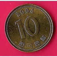 39-16 Южная Корея, 10 вон 2004 г.