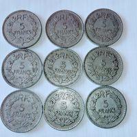 5 франков Четвертая Французкая республика