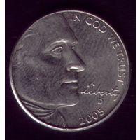 5 центов 2005 год D США