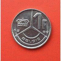Бельгия, 1 франк 1989 г. Фламандский тип. Распродажа!