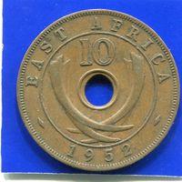 Британская Восточная Африка 10 центов 1952