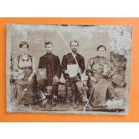 """Фото """"Большая семья"""", 1914 г. (17*12 см)"""