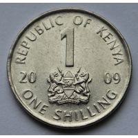 Кения 1 шиллинг, 2009 г.