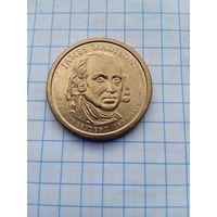США 1 доллар 2007г. 4-й Президент.
