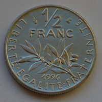 Франция, 1/2 франка 1996 г.