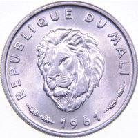 РАСПРОДАЖА!!! - МАЛИ 25 франков 1961 год - BU!