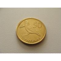 """Мозамбик. 50 сентаво 2006 год  KM#136  """"Гигантский пегий зимородок"""""""