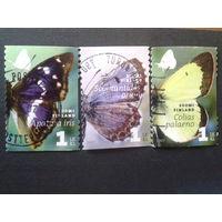 Финляндия 2007 бабочки полная серия