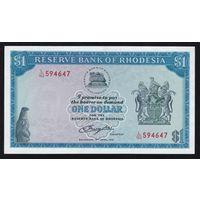 Родезия 1 доллар 1978 года. Состояние UNC! Редкость!