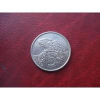 5 центов 1981 год Новая Зеландия
