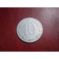10 геллеров 1954 год Чехословакия