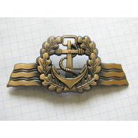 ФРГ Специальный знак различия ВМФ (Seefahrendes Personal) заколка (2-240)