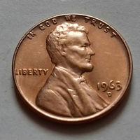 1 цент, США 1963 D, AU