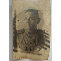 Фото с фронта, сержант РККА, ВОВ, 1945 год