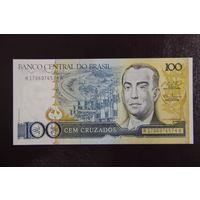 Бразилия 100 крузадо 1987 UNC
