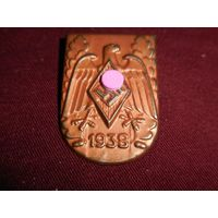 Спортивный знак, значок HJ, слет 1938 год, 3 рейх  Гитлер Югенд (оригинал).Аукцион с 1.00 руб.