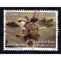 Колумбия 2017. 10 000 песо (Морская пехота - 80 лет)