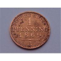 Германия 1 пфенниг 1869 А
