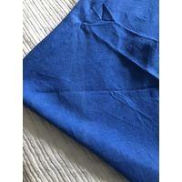 Овальная скатерть льняная синяя
