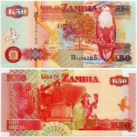 Замбия. 50 квача (образца 2003 года, P37d, UNC)