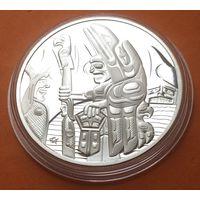 КАНАДА Proof 30 долларов 2005 г СЕРЕБРО Тотемный столб  Тотем
