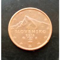 Словакия 1 евроцент 2016 г.
