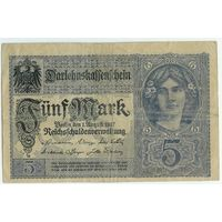 Германия, 5 марок 1917 год.
