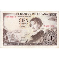 Испания, 100 песет, 1965 г.