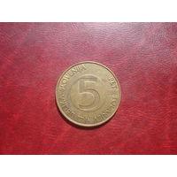 5 толларов 2000 год Словения