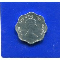 Карибские острова 1 цент 1987 UNC