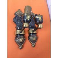 Бра, настенный светильник (пара) Латунь/бронза Италия Цена за 1