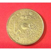 Италия, юбилейные 200 лир, 1994г.