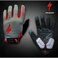 Велоперчатки Specialized длинные пальцы серые, красные, черные