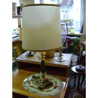 Старинная лампа-торшер на бронзовой подставке