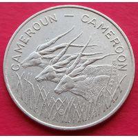 """Камерун. 100 франков 1983 год KM#17 """"Африканская антилопа"""""""