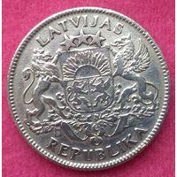 Монета 1 лат 1924 год