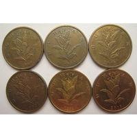 Хорватия 10 липа 1999, 2003, 2005, 2007, 2011, 2013 гг. Цена за 1 шт. (v)