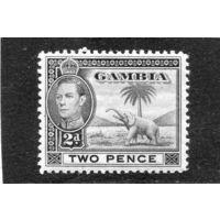 Гамбия. Британская колония. Слон. 2d