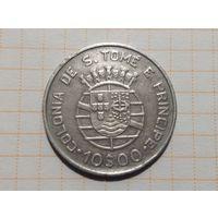 Сан - Томе и Принсипи (колония Португалия) 10 эскудо 1939г