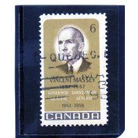 Канада.Ми-433. Винсент Месси, первый генерал-губернатор Канады. 10 лет со дня смерти. 1969.