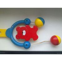 Подвесная игрушка-погремушка МИШКА