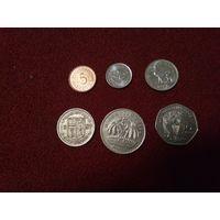 Маврикий набор 6 монет