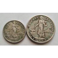Филиппины 10 и 20 сентаво 1945 г 750 пр., Не чищены.