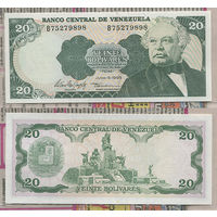 Распродажа коллекции. Венесуэла. 20 боливаров 1995 года (P-63e - 1981-1998 Issues)